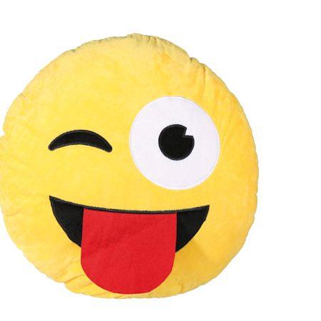 Mega pluche kussen Tongue Emotion 50 cm Pluche. kussen  tongue  emotion  emoticon