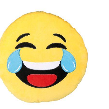 Mega pluche kussen Laughing Emotion 50 cm Pluche  kussen  laughing  emotion  emoticon