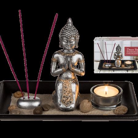 Decoset Boeddha Boeddha  relax  geurstokjes  theelichthouder