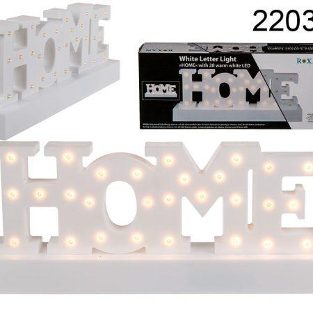 Tekst HOME met led-lampjes Home  deco  led
