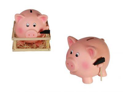 Jumbo Spaarvarken met Hamer spaarvarken  hamer  varken  sparen  geld  weide  keramiek  kado  kado's  cadeau  cadeaus  gift  gifts  gadget  gadgets  voor haar  voor vrouw  voor hem  voor man  voor kids  voor kinderen