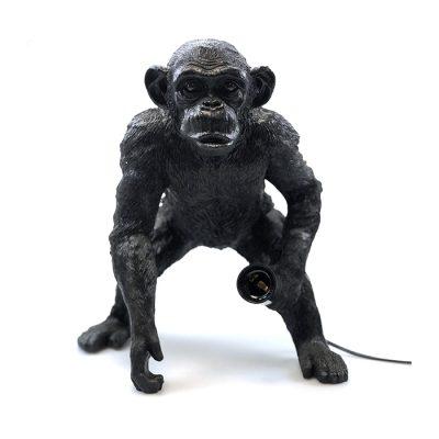 staande apenlamp zwart vooraanzicht